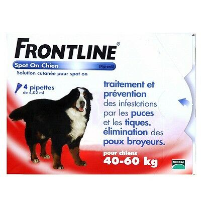 Frontline Spot-On XL Chien ( 40 kg) - 4 pipettes