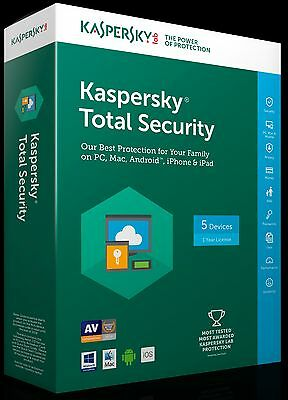 Kaspersky Total Security 2017 | 5 Devices, 1 Year | Key | Fast Delivery