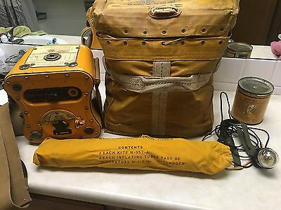 WWII-50s USAF T-74/CRT-3 Gibson Girl Radio Case & Accessories - 817th CPE