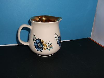 Spectacular Prinknash Pottery 8 cm Creamer Blue, White and Gold