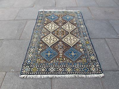 Old Traditional Hand Made Rugs Persian Wool Brown Pink Oriental Rug 162x105cm