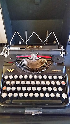 Antique German typewriter Continental portable case