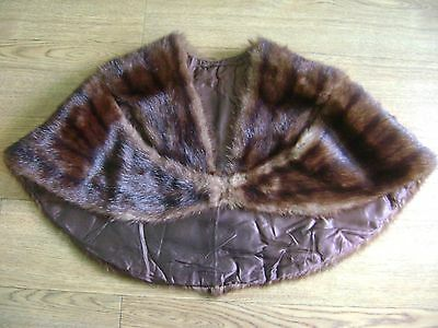Vintage mink stole.Unusual style.Real mink.Brown.1940's 1950's.