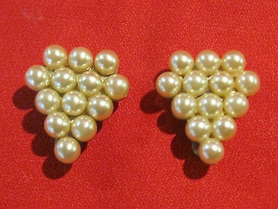 Vintage pair of faux pearl shoe clips