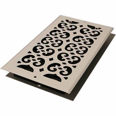 "Decor Grates Scroll Wall/Ceiling Register, Painted White, 6"" x 12"""