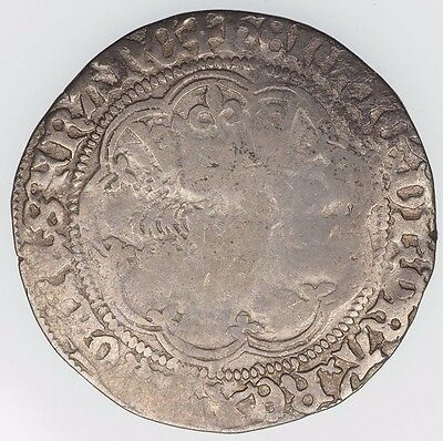 1422-1461 Groat Henry Vi London Mint Great Britain Medieval