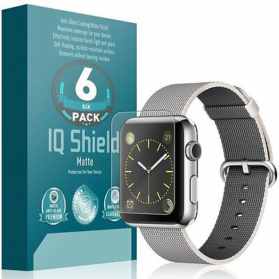 Apple Watch 42mm Screen Protector, IQ Shield Matte (6-Pack) Full Coverage