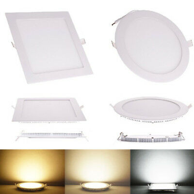 Recessed LED Panel Light Epistar 3W 6W 9W 12W 15W 18W Ceiling Down Lights