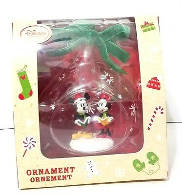 Disney Store Mickey & Minnie Mouse Snowflakes Christmas Ornament 2016 Red Black