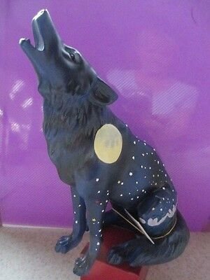 - HOWLING MOON WOLF - Westland Call of the Wolf Collectible Figurine - Retired
