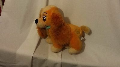 "10"" cute soft floppy the lady from lady and the tramp disney store plush doll"