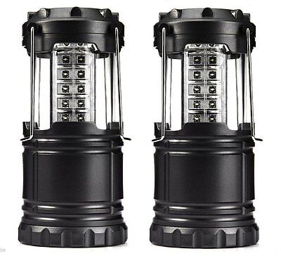 2 PACK 30 LED Lantern Collapsible Outdoor Camping Lantern Ultra Bright 60 Lumens