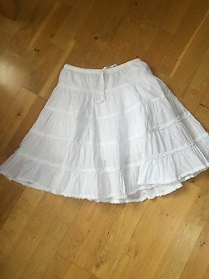 VGC Mini Boden Girls White Gypsy Skirt - Age 5-6