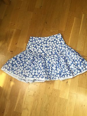 VGC Mini Boden Girls Flower Skirt - Age 5-6
