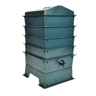 #b NEW WORM FACTORY 4 TRAY WORM COMPOSTER GARDEN COMPOSTING