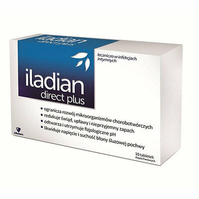 ILADIAN DIRECT PLUS - 10 Vaginal tablets thrush bacterial vaginosis