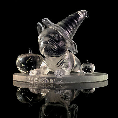 Halloween Crystal Clear Semi Transparent 3D French Bulldog Model Dog Gift