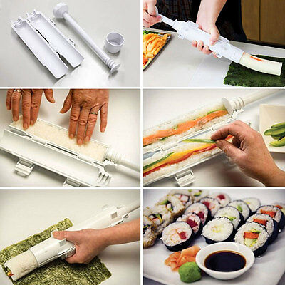 Sushi Bazooka Roll Maker Making Rice Roller Mold Kitchen DIY Set