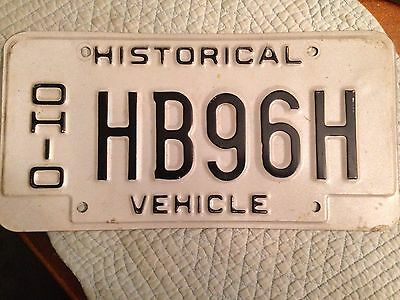 Single Ohio Historical License Plate HB96H Used