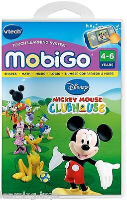 VTech MobiGo 1 2 Game- Mickey Mouse Club House - 5 Learning Games Included