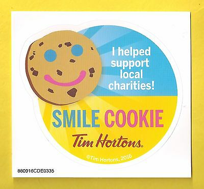New TIM HORTON'S Smile Cookie Decal Sticker 2016