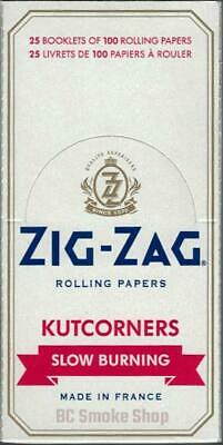 Zig-Zag Kutcorners Slow Burning Rolling Papers - 1 Box 25 Booklets