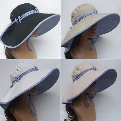 New Woman Wide Brim Folding Sun Hat Outdoor Hiking Fishing UV Protection Caps