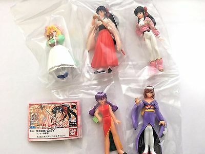 RARE!! Sakura Wars mini figure full Set of 5 Japan gashapon HG released at 1997
