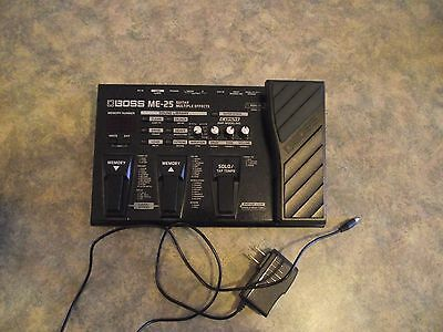 Boss ME-25 Guitar effects pedal with Power Supply