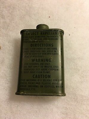 WW2 Insect Repellent Original Sealed Can Scarce C1 Survival Vest