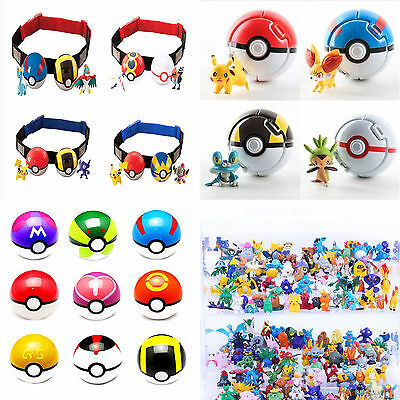 Fashion Pokemon Pokeball Cosplay Pop-up Pikachu Poke Ball Game Toys Kid Children
