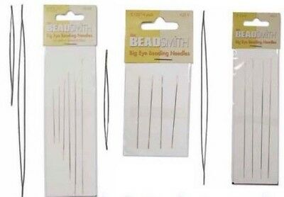 Big Eye Beading Needles  Perfect for bead threading: various sizes BEADS & TOOLS