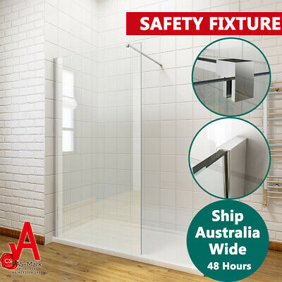 800/900/1000/1100/1200 Walk In Shower Screen Enclosure Fixed Panel Frameless