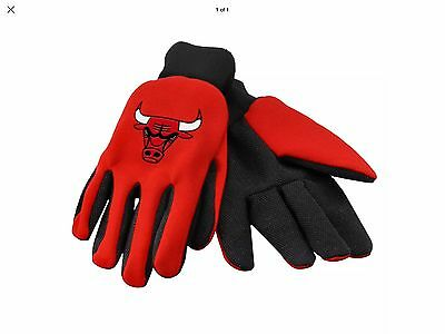 Chicago Bulls Gloves Sports Logo NEW Colored Palm