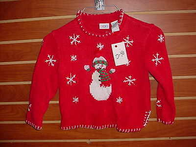 D-40 Unisex YOUTH Kids Ugly Christmas Sweater Size 4T Holiday X-Mas PARTY