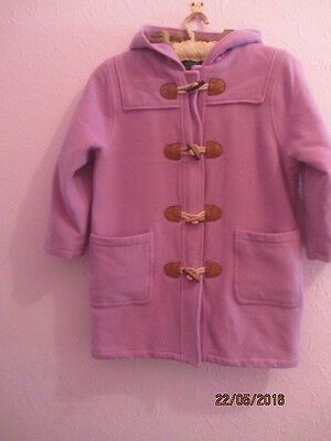 girls pink duffle coat boden 7-8yrs warm wool christmas cosy hood very trendy