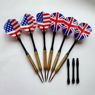 Steel Copper Needle Tip Dart Darts With Nice Flight Flights Throwing Toy CC