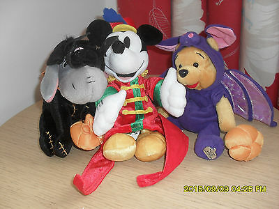 Mickey Mouse  & Pooh Bear & Eyeore Soft Toys  Metal Tags  Great Xmas Presents
