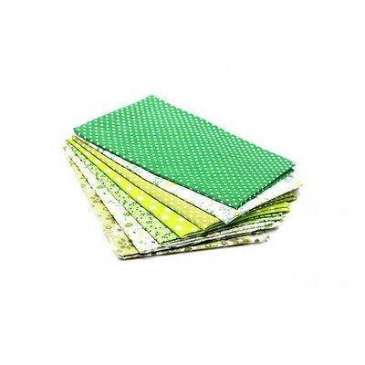 7 coupons tissu pour patchwork Tons Vert - Neuf