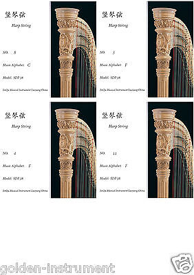 38 strings fit Harp String High Quality Durable