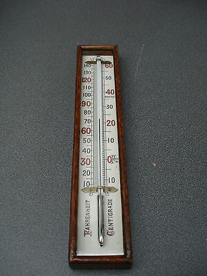 Good Large Aneroid Barometer Box Thermometer Porcelain Scale  Parts Spares
