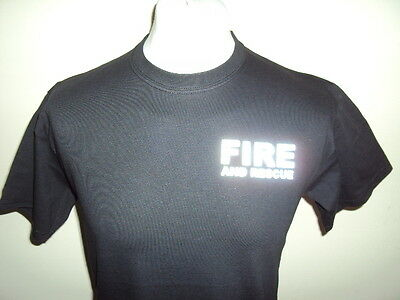 Fire And Rescue Service Reflective T Shirts - Ukfrs - Fire Brigade Printed