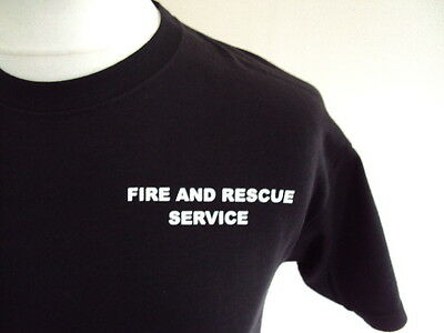 Fire And Rescue Service Small White Print - Ukfrs - Fire Brigade Printed