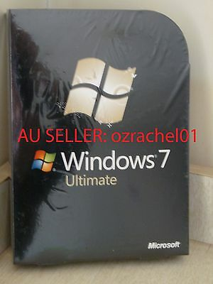 NEW Microsoft Windows 7 Ultimate 32bit/64bit FULL VERSION With 2DVDs On Sale!