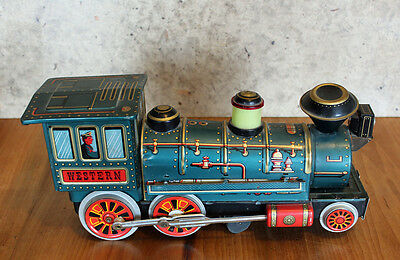 Modern Toys Lokomotive Dampflok Wilder Westen USA Railway Made in Japan 1960
