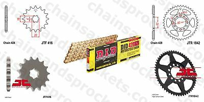 DID- All Gold Heavy Duty Chain Kit 428HDGG 112 fits Yamaha DT125 E 74