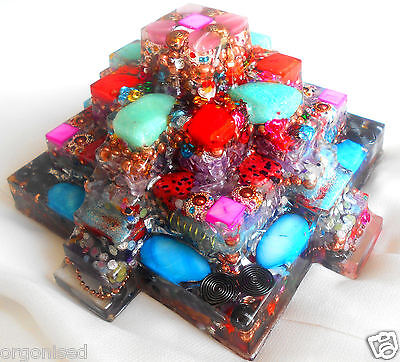 2lb 14oz POWERFUL 24K Mayan Pyramid Orgonite EMF Protection Meditation Healing
