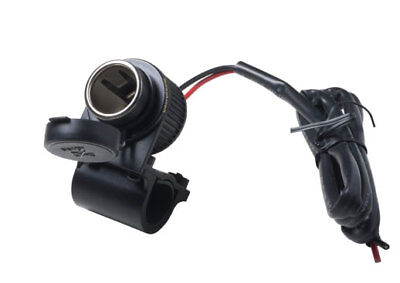 Interphone 12V Tubular Motorcycle Handlebar Mounted Cigarette Adaptor Socket