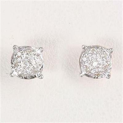Natural 14 Diamond 9ct 375 Solid Rose Gold Stud Earrings Earthed Mined Diamonds
