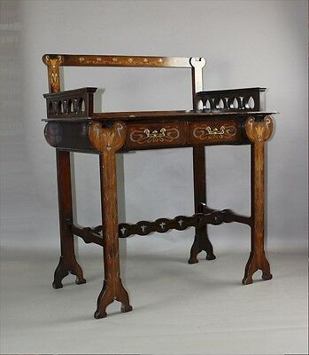 Art Nouveau inlaid ladies writing table Shapland and Petter c1900